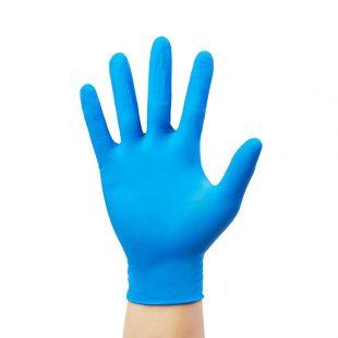 Перчатки нитриловые голубые