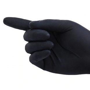 Перчатки нитриловые ЧЕРНЫЕ раз.XL в коробочке по 100шт