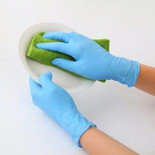 Перчатки нитриловые ГОЛУБЫЕ, ФИОЛЕТОВЫЕ раз.M в коробочке по 100шт