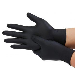 Перчатки нитриловые ЧЕРНЫЕ раз.L в коробочке по 100шт