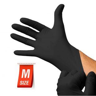 Перчатки нитриловые ЧЕРНЫЕ раз.M в коробочке по 100шт