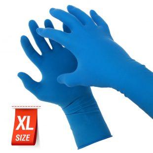 Перчатки латексные АНАЛОГ Dermagrip High Risk в коробочке 25 пар раз.XL