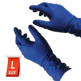 Перчатки HIGH-RISK хоз. латексные в коробочке 25 пар раз. L