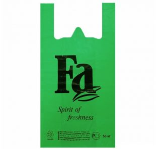 Пакет-майка (30+15х55) Fa зеленая
