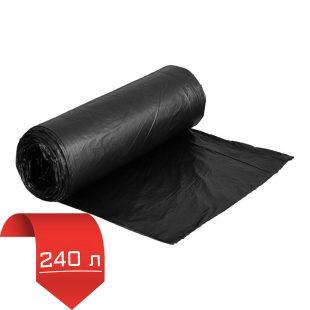 """Пакеты для мусора """"МАСТЕР ЧИСТО """" ПВД 240л (рулон=10шт) черн. СУПЕРПРОЧНЫЕ"""