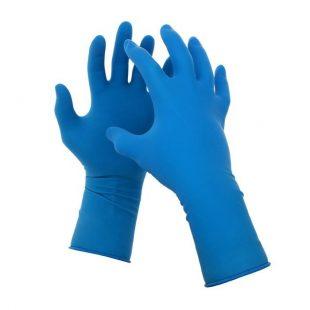 Перчатки латексные голубые