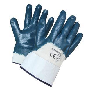 Перчатки нитриловые краги, манжет