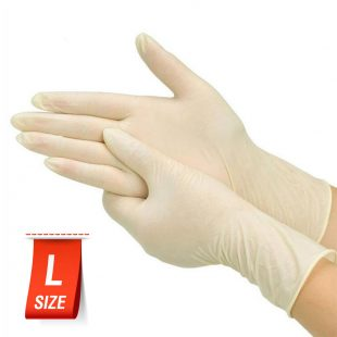 Перчатки латексные медицинские неопудренные раз.L в коробочке по 100шт
