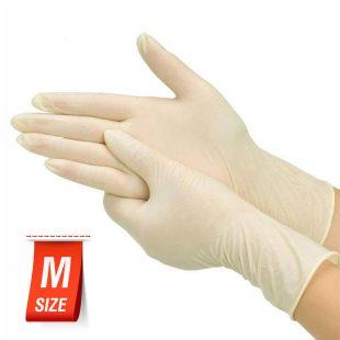Перчатки латексные медицинские неопудренные раз.M в коробочке по 100шт