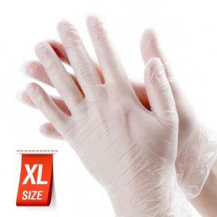 Перчатки виниловые раз.XL в коробочке по 100шт
