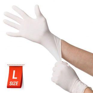 Перчатки латексные медицинские опудренные раз.L в коробочке по 100шт