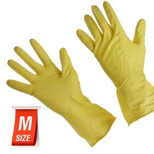 Перчатки хозяйственные резиновая раз.M