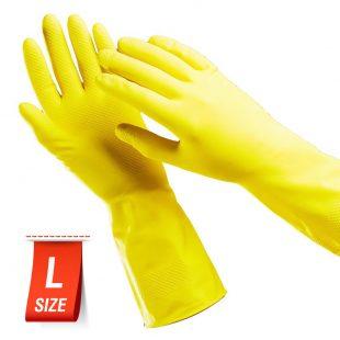 Перчатки резиновые PACLAN PROFESSIONAL ЖЕЛТЫЕ L