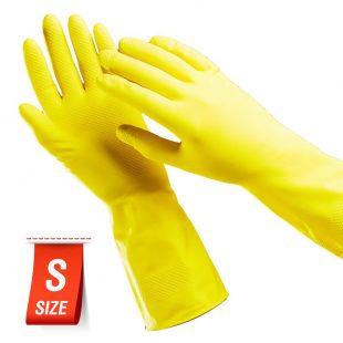 Перчатки резиновые PACLAN PROFESSIONAL ЖЕЛТЫЕ S