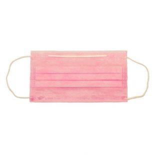Маска для лица одноразовая розовая (50шт)