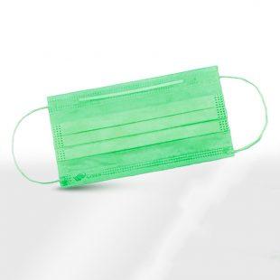 Маска для лица одноразовая зеленая (50шт)