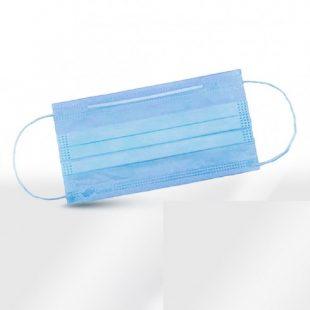Маски гигиенические 3х слойные (голубые)