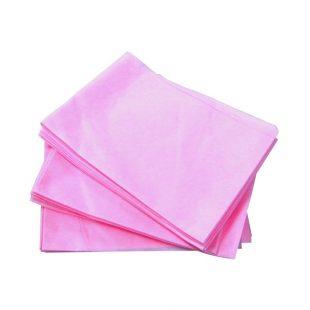 Простыни 70*200 одноразовые в сложении (розовый)