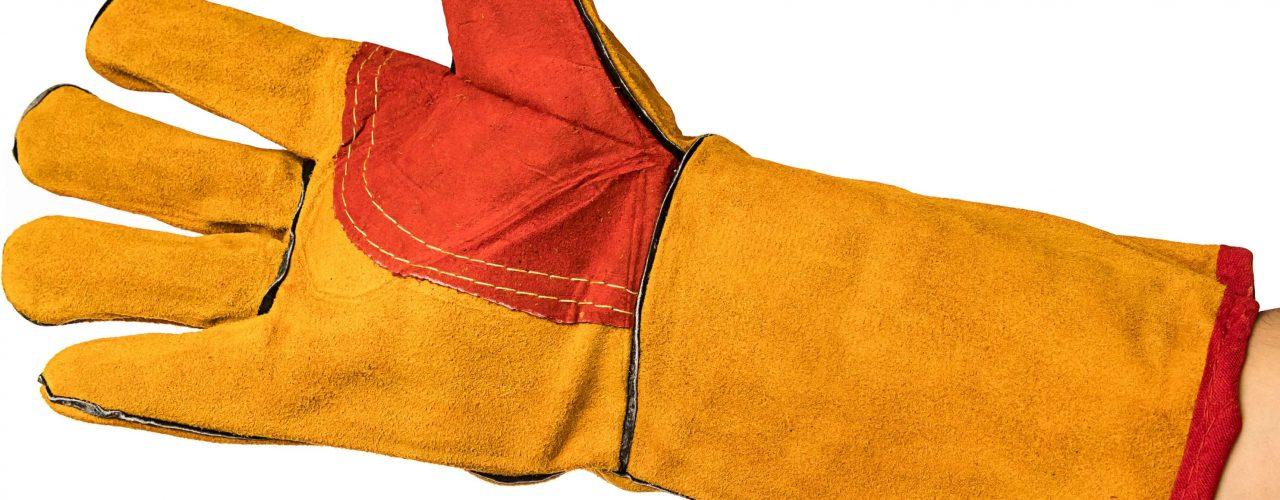 Спилковые перчатки для сварочных работ