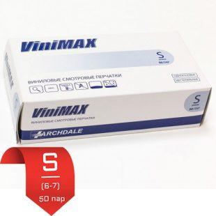 Перчатки виниловые ViniMax н/о плотные S (6-7) 50 пар
