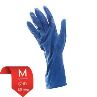 Перчатки латексные UniMax синие M (7-8) 25 пар