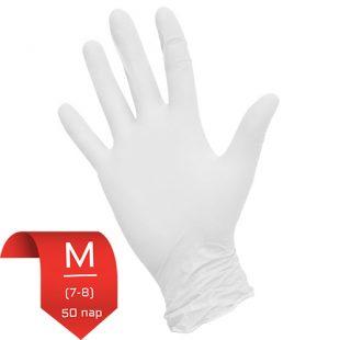 Перчатки нитриловые NitriMax Белые M (7-8) 50 пар