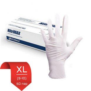 Перчатки нитриловые NitriMax Белые XL (9-10) 50 пар