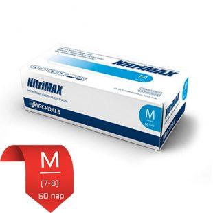 Перчатки нитриловые NitriMax Голубые (эконом) M (7-8) 50 пар