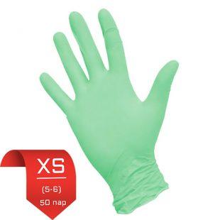 Перчатки нитриловые NitriMax Зеленые XS (5-6) 50 пар