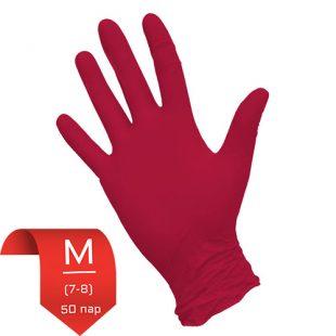 Перчатки нитриловые NitriMAX красные M (7-8) 50 пар