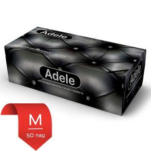 Adele нитриловые перчатки черные M 50 пар