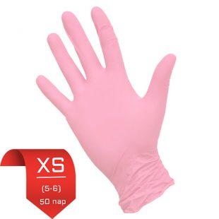 Перчатки нитриловые NitriMax Розовые XS (5-6) 50 пар