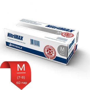 Перчатки нитриловые NitriMax Серые M (7-8) 50 пар