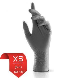 Перчатки нитриловые NitriMax Серые XS (5-6) 50 пар