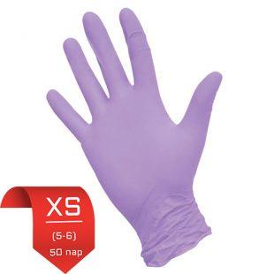Перчатки нитриловые NitriMax Сиреневые XS (5-6) 50 пар