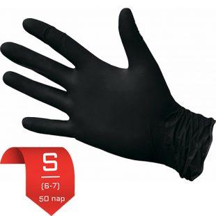 Перчатки нитриловые NitriMax Черные S (6-7) 50 пар