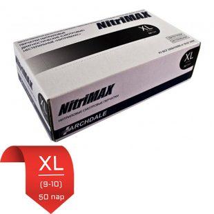Перчатки нитриловые NitriMax Черные XL (9-10) 50 пар