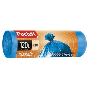 Мешки для мусора CLASSIC 120л 110 х 70см 10шт. (ПНД) (син.)