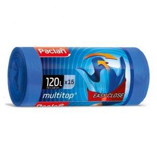 Мешки для мусора MULTI-TOP 120л  110х70см 15шт., (ПВД)