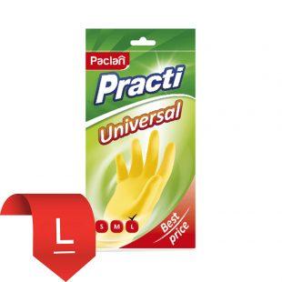 Перчатки резиновые Universal (L)  желтые, 1 пара
