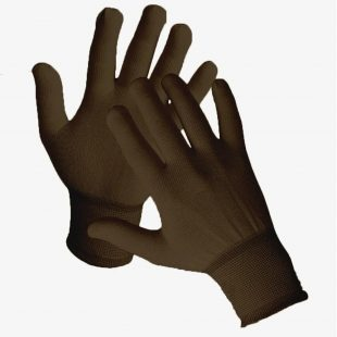 Перчатки нейлоновые (коричневые)