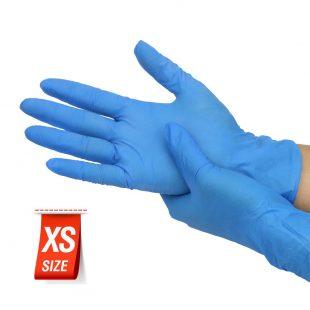 Перчатки нитриловые ГОЛУБЫЕ, ФИОЛЕТОВЫЕ раз.XS в коробочке по 100шт