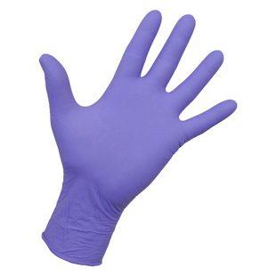 Перчатки нитриловые лиловые