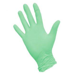 Перчатки нитриловые зеленые