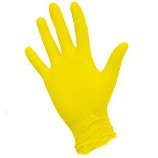 Перчатки нитриловые желтые