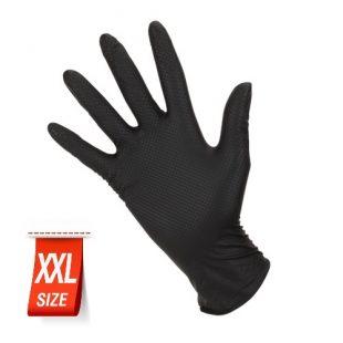 Перчатки нитриловые особопрочные HIGH RISK Ideall Grip+ Black раз.XXL 50 шт.