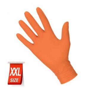 Перчатки нитриловые особопрочные HIGH RISK Ideall Grip+ Orange раз.XXL 50 шт.