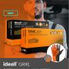 Перчатки нитриловые особопрочные HIGH RISK Ideall Grip+ Black раз.M 50 шт.