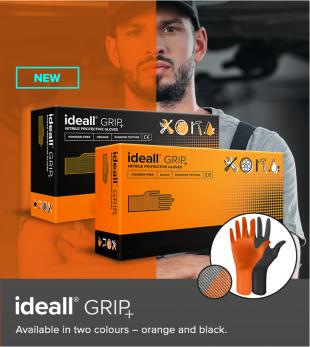 Перчатки нитриловые особопрочные HIGH RISK Ideall Grip+ Orange раз.M 50 шт.